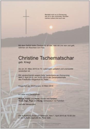 Christine Tschematschar