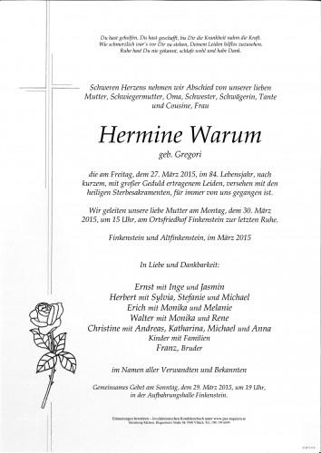 Hermine Warum