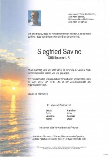Siegfried Savinc