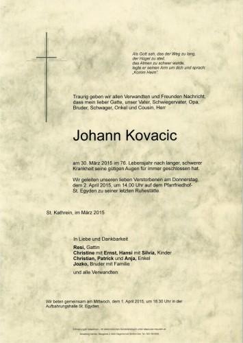 Johann Kovacic