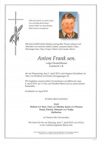 Anton Frank sen., vulgo Deutschbauer