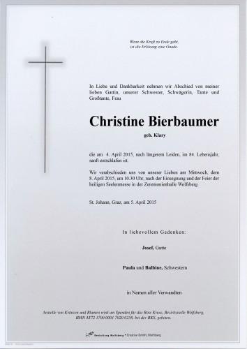 Christine Bierbaumer