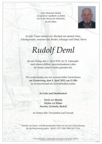 Rudolf Deml