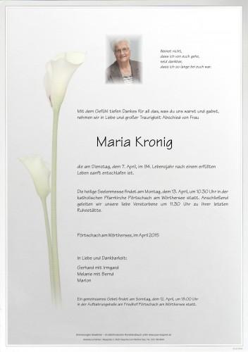 Maria Kronig