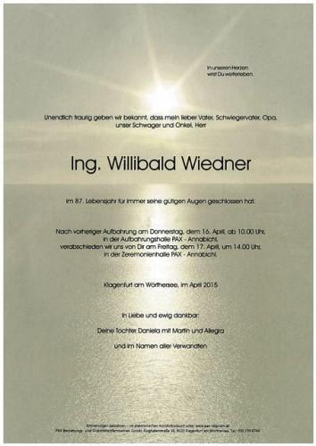 Ing. Willibald Wiedner