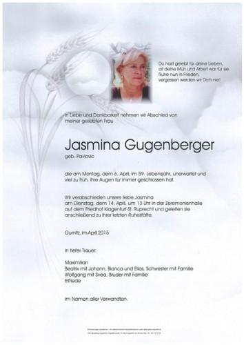 Jasmina Gugenberger, geb. Pavlovic