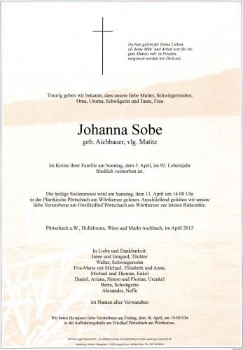 Johanna Sobe