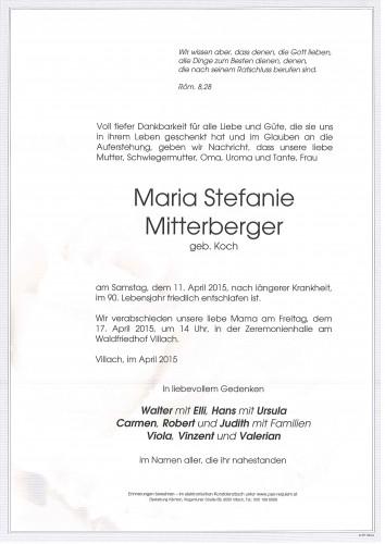 Maria Stefanie Mitterberger