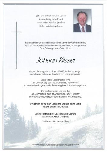 Johann Rieser