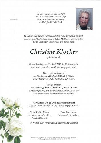 Christine Klocker