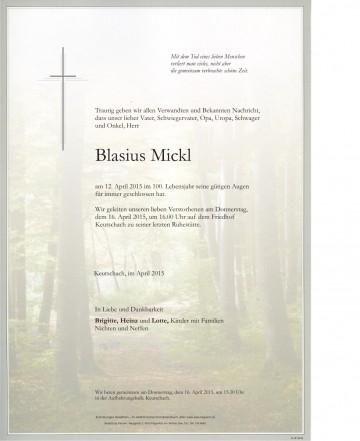 Blasius Mickl