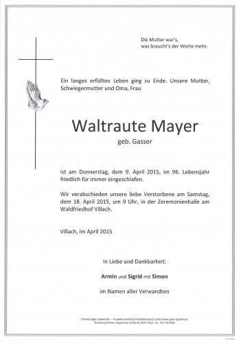 Waltraute Mayer