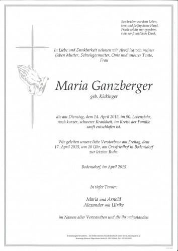 Maria Ganzberger