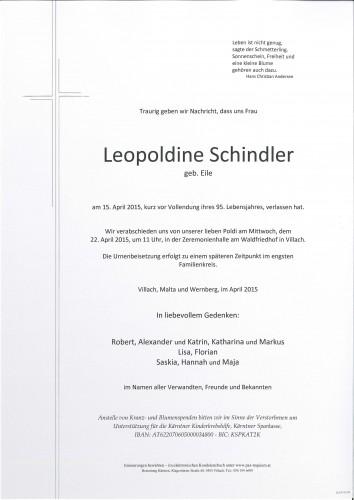Leopoldine Schindler
