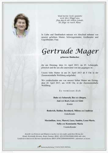 Gertrude Mager