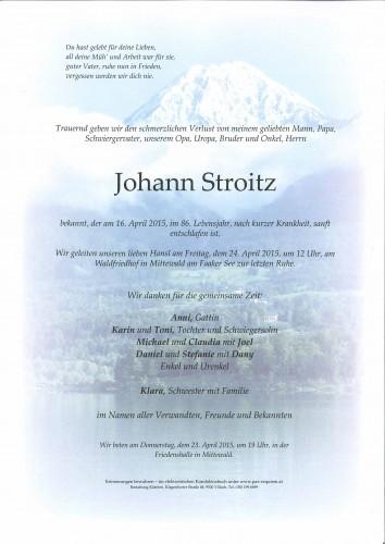 Johann Stroitz