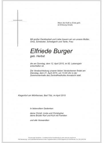 Elfriede Burger