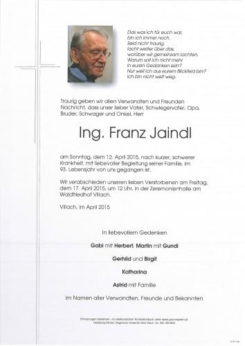 Ing. Franz Jaindl