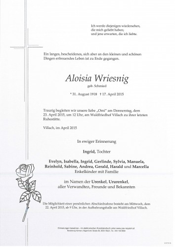 Aloisia Wriesnig