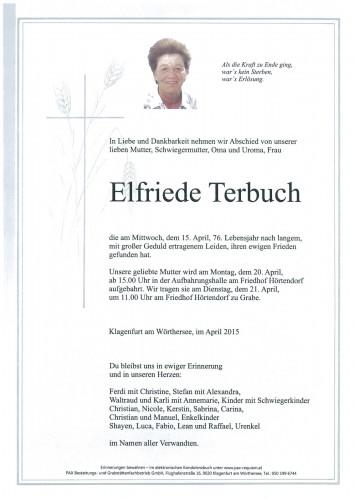 Elfriede Terbuch