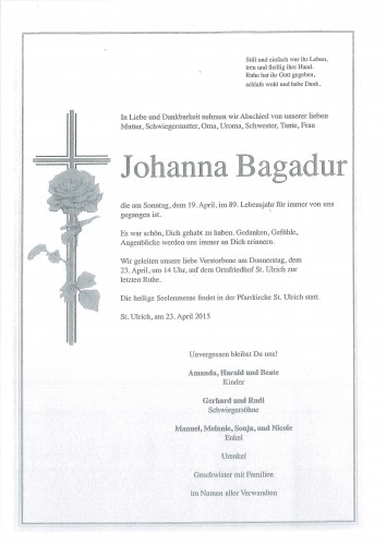 Johanna Bagadur