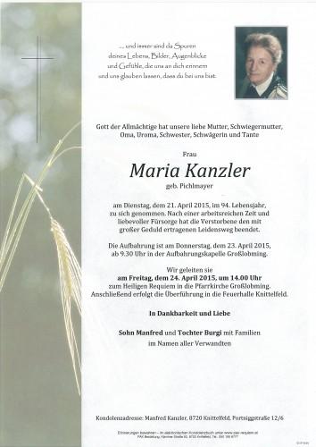 Maria Kanzler
