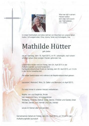 Mathilde Hütter