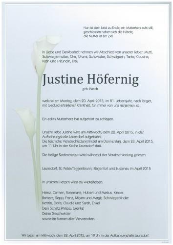 Justine Höfernig