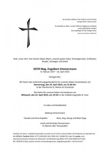 OSTR Mag. Engelbert Zimmermann