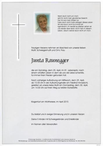 "Junta Raunegger ""Junta Omi"""