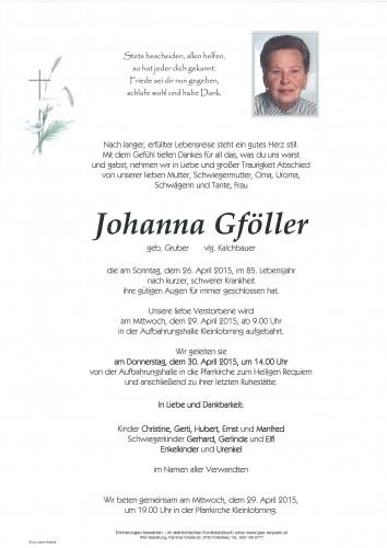 Johanna Gföller