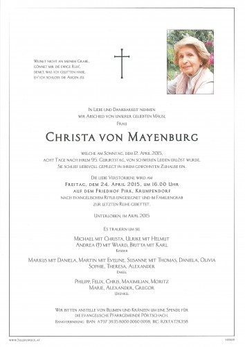 Christa Mayenburg