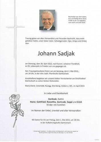 Johann Sadjak