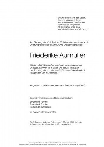 Friederike Aumüller