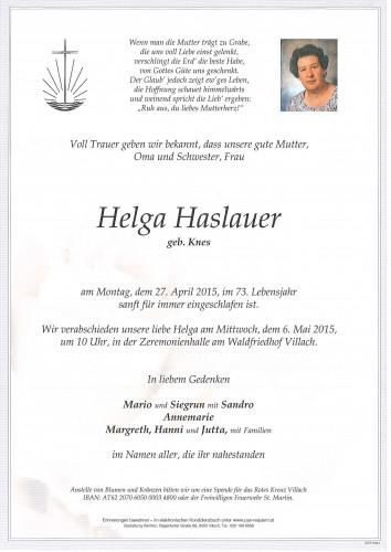Helga Haslauer