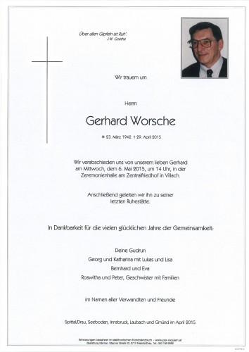 Gerhard Worsche