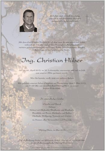 Ing. Christian Huber