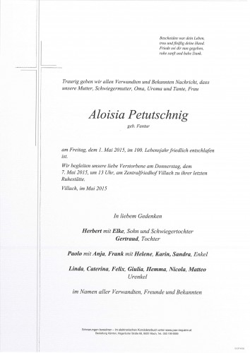 Aloisia Petutschnig