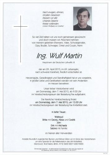 Ing. Wulf Martin