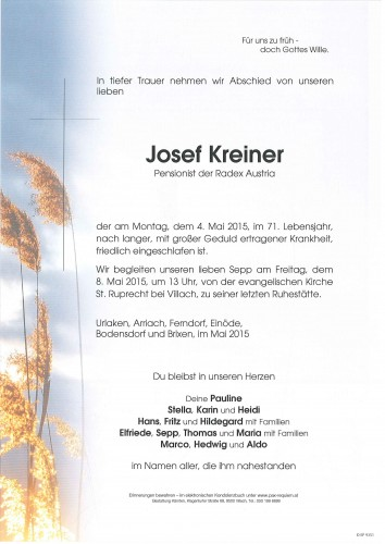 Josef Erich Kreiner