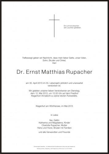 Dr. Ernst Matthias Rupacher