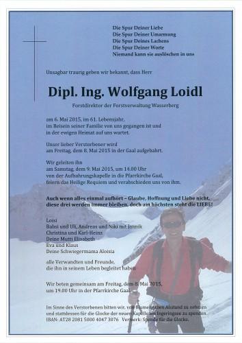 Dipl. Ing. Wolfgang Loidl