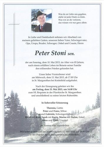 Peter Stoni sen.