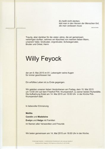 Willy Feyock