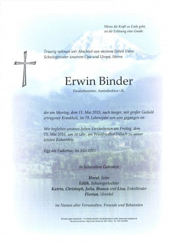 Erwin Binder