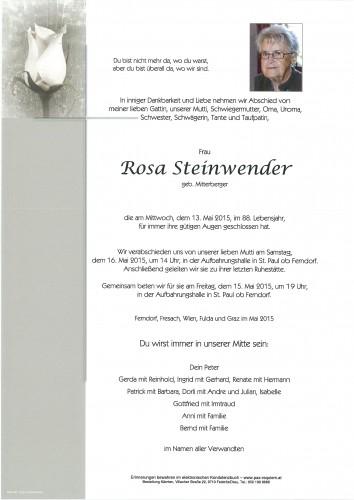 Rosa Steinwender