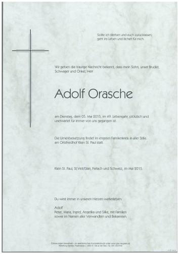 Adolf Orasche