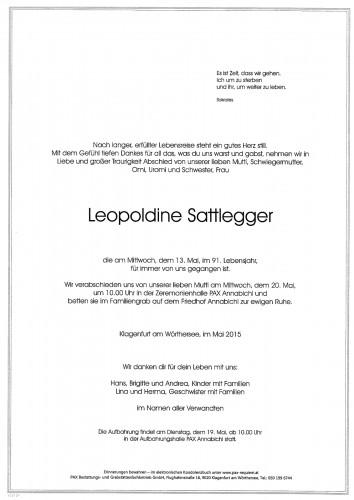 Leopoldine Sattlegger