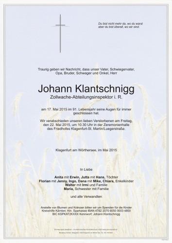 Johann Klantschnigg