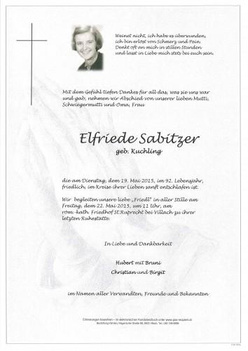 Elfriede Sabitzer